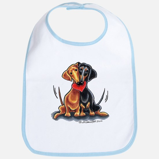 Smooth Dachshund Lover Bib