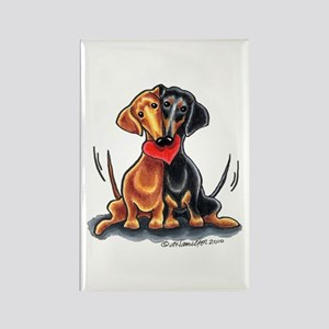 Smooth Dachshund Lover Rectangle Magnet