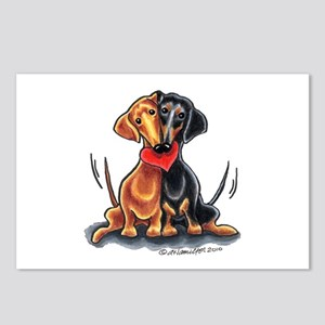 Smooth Dachshund Lover Postcards (Package of 8)