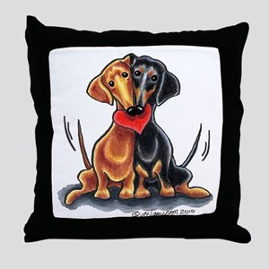 Smooth Dachshund Lover Throw Pillow