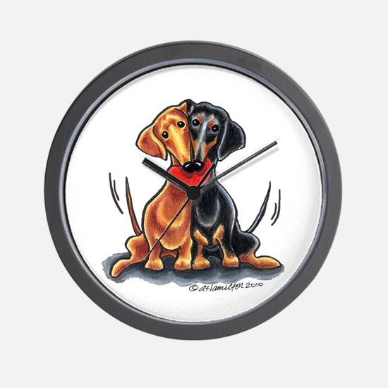 Smooth Dachshund Lover Wall Clock
