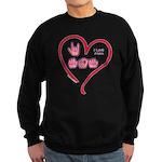 I Love Mom Sweatshirt (dark)