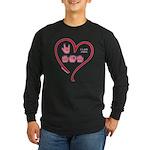 I Love Mom Long Sleeve Dark T-Shirt