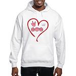 I Love Mom Hooded Sweatshirt