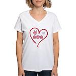 I Love Mom Women's V-Neck T-Shirt