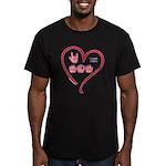 I Love Mom Men's Fitted T-Shirt (dark)