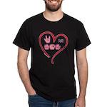 I Love Mom Dark T-Shirt