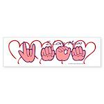 ILY Mom Hearts Sticker (Bumper 50 pk)