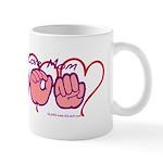ILY Mom Hearts Mug