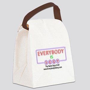 Everybody is Sexy - Black Canvas Lunch Bag