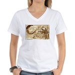 Learning to be a glass blower Women's V-Neck T-Shi
