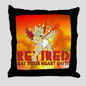 Cupid Retired Throw Pillow