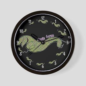 Doxie Gras Wall Clock