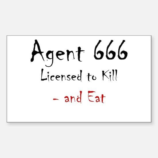 Agent 666 Sticker (Rectangle)