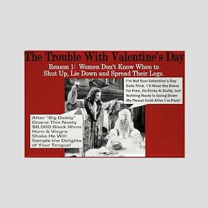 Anti-Valentine's Viagra Rectangle Magnet