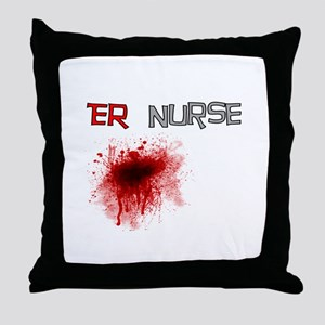 cardiac nurse Throw Pillow
