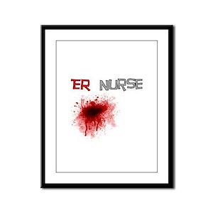 cardiac nurse Framed Panel Print