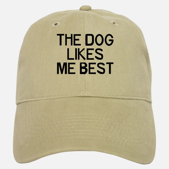 The Dog Likes Baseball Baseball Cap