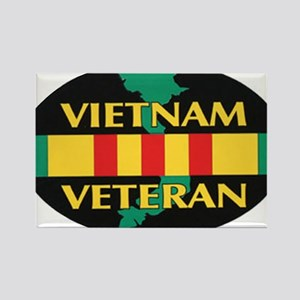 Vietnam Veteran Rectangle Magnet