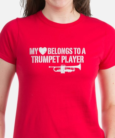 My Heart Trumpet Player Women's Dark T-Shirt