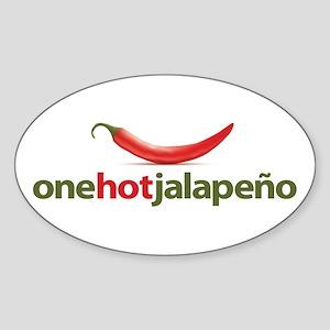 Hot Jalapeno Sticker (Oval)