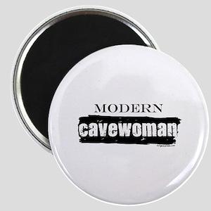 Modern cavewoman, paleo Magnet