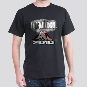 I Survived Eyja Dark T-Shirt