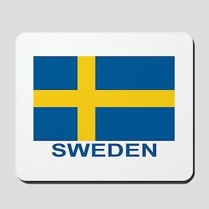 Swedish Flag (w/title) Mousepad