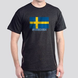 Swedish Flag (w/title) Dark T-Shirt
