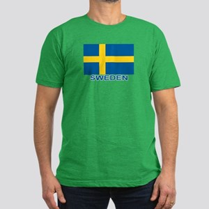 Swedish Flag (w/title) Men's Fitted T-Shirt (dark)