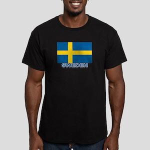 Swedish Flag (w/title) Men's Fitted T-Shirt (dark)