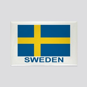 Swedish Flag (w/title) Rectangle Magnet