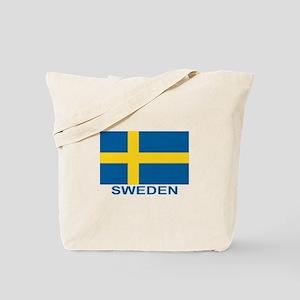 Swedish Flag (w/title) Tote Bag
