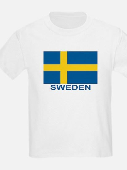 Swedish Flag (w/title) T-Shirt