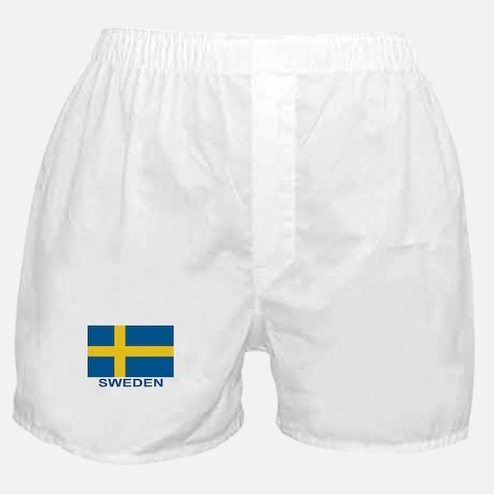 Swedish Flag (w/title) Boxer Shorts