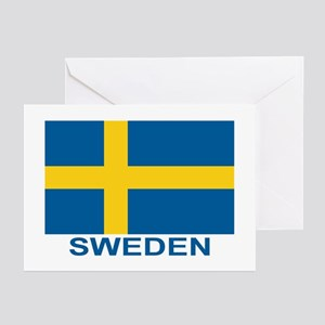 Swedish Flag (w/title) Greeting Cards (Pk of 20)