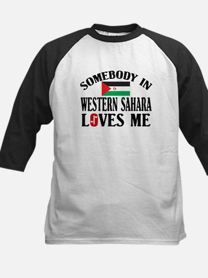 Somebody In Western Sahara Kids Baseball Jersey