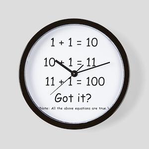 Binary Humor Wall Clock