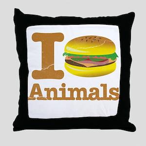 I Eat Animals Meat Food Throw Pillow