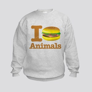 I Eat Animals Meat Food Kids Sweatshirt