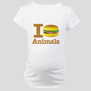I Eat Animals Meat Food Maternity T-Shirt