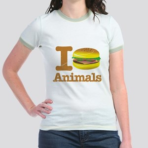 I Eat Animals Meat Food Jr. Ringer T-Shirt