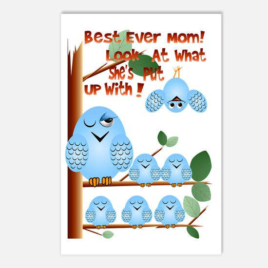 Best Mom for putting up with Postcards (Package of