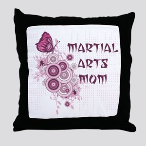 Martial Arts Mom Throw Pillow