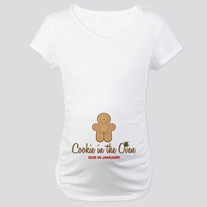Due January Cookie Maternity T-Shirt