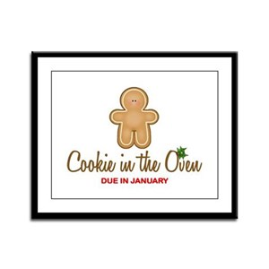 Due January Cookie Framed Panel Print