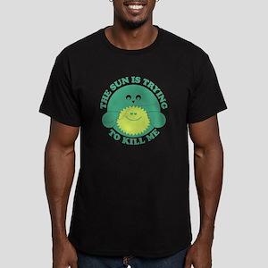 Environment Sun Killing Me Men's Fitted T-Shirt (d