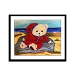 Chef Cappy's Beach Vacation Framed Panel Print