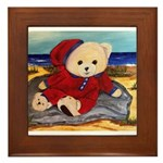Chef Cappy's Beach Vacation Framed Tile