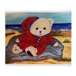Chef Cappy's Beach Vacation Throw Blanket